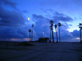 Moonrise Over Alamitos Bay